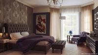 Açık Renk Perdeli Kahverengi Yatak Odası