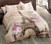 Çiçekli Eiffel Kuleli Nevresim