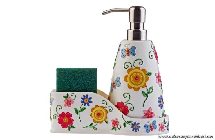 Çiçekli Sabunluk