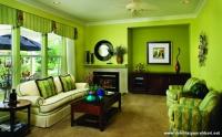 Fıstık Yeşili Rengarenk Salon