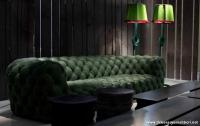 İhtişamlı Yeşil Chester Kanepe