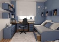 Küçük Mavi Genç Odası