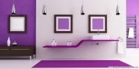 Modern Mor Renk Banyo Dekorasyonu