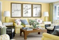 Sarı Ağırlıklı Salon Fikirleri
