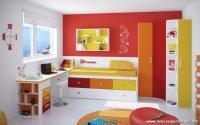 Sarı Kırmızı Turuncu Genç Odası Modelleri