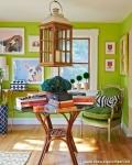 Yeşil Renk Oturma Odası Tasarımı