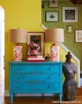 Yeşil Sarı Oturma Odası Fikirleri