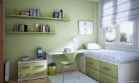 Yeşil Tonlarda Genç Odası