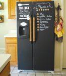 Siyah Renk Dekoratif Buzdolabı