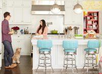 Beyaz Renk Dar Mutfak Dekorasyonu