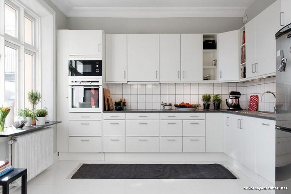 beyaz renk mutfak dolab modelleri dekorasyon rehberiniz. Black Bedroom Furniture Sets. Home Design Ideas