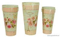 Çiçek Figürlü Dekoratif Vazo Modelleri