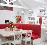 En Güzel Kırmızı Amerikan Mutfak Örnekleri