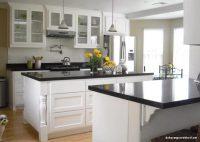 En Güzel Siyah Beyaz Amerikan Mutfak Modeli