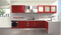 Geniş Mutfaklar İçin Kırmızı Beyaz Fikirler