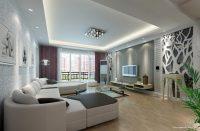 Işıklandırılmış Mükemmel Duvarlı Salon Dizaynı