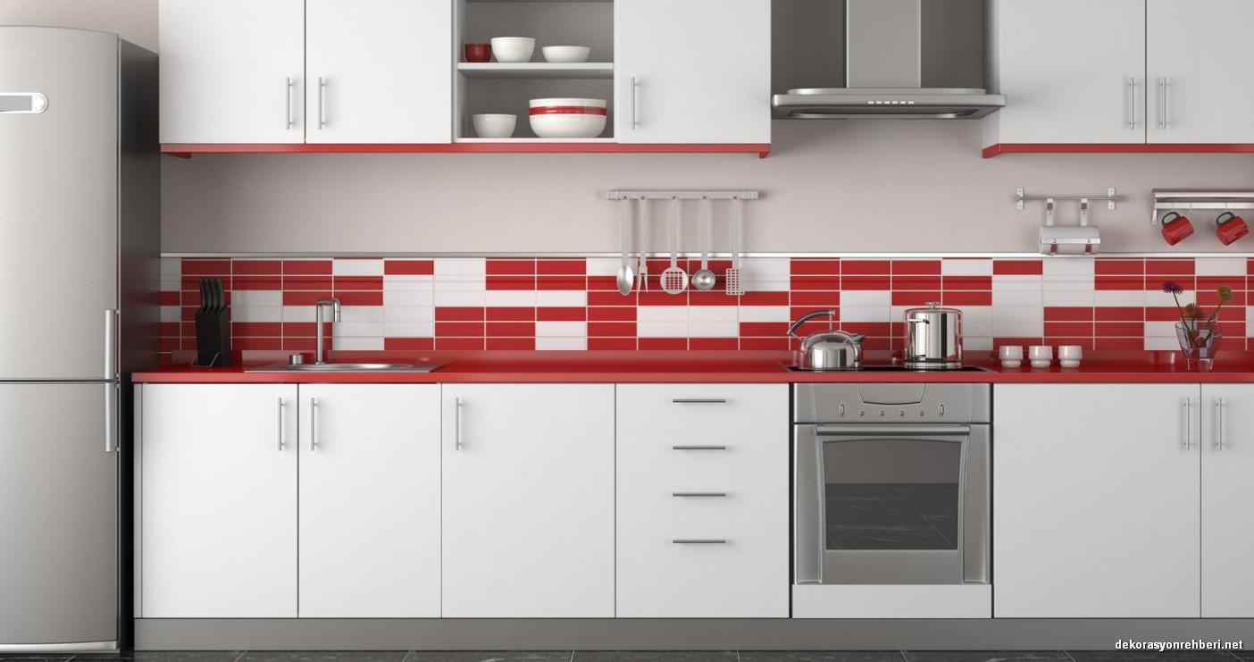 Kırmızı Beyaz Mutfak Dekorasyonu Nasıl Yapılır