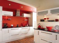 Kırmızı Beyaz Modern Mutfaklar