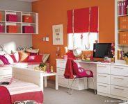 Kırmızı Turuncu Kombinlenmiş Genç Odaları