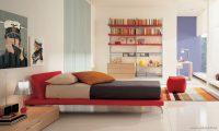 Kırmızı ve Gri Tonlu Genç Odaları