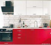 Koçtaş Kırmızı Beyaz Ankastre Mutfak Dolapları