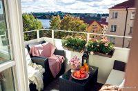 Minimalist Tasarımlı Balkon Dekorasyonu