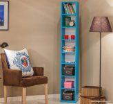 Mobetto İnce Uzun Mavi Kitaplık Modelleri