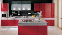 Küçük Evler İçin Kırmızı Renk Amerikan Mutfak Tavsiyeleri
