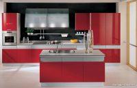 Modern Kırmızı Amerikan Mutfaklar
