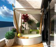 Orjinal Çardaklı Balkon Dekorasyonu
