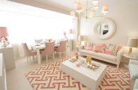 Oturma Odalarında Pudra Rengi Kullanımı