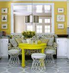 Sarı Renk Aydınlık Mutfak Modelleri