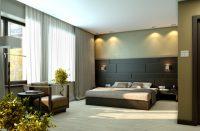 Siyah Yeşil Çiçekli Modern Yatak Odası Modelleri