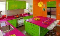 Yeşil Mutfak Dolaplı Mükemmel Dekorasyon