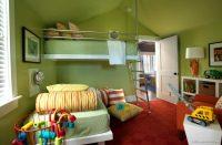 Çocuk Odaları İçin Yeşil Renk Duvar Boyası