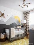Duvarları Resimli Bebek Odası