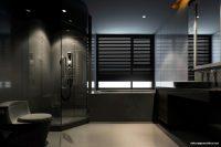 Geniş Banyolar İçin Siyah Renk Tasarımlar