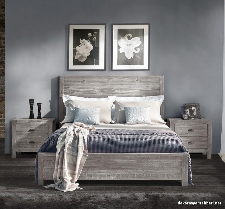 Gri Tonlarda Rustik Yatak Odasi Dekorasyon Rehberiniz