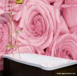 Gül Resimli Duvar Kağıdı Banyo İçin