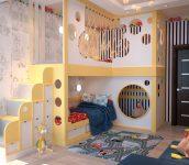 İki Katlı Çocuk Odaları