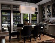 Siyah Sandalyeli Küçük Yemek Odası