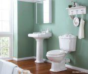 Banyo Yeşil Renk Duvar Dekorasyonu