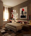 Kırmızı Beyaz Modern Genç Odası