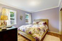 Lila Rengi Yatak Odası