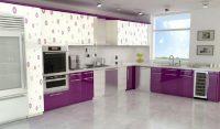 Mor Renk Mutfak Dolabı Modelleri