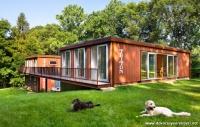 2 Katlı Orman İçinde Sade Konteyner Ev Modelleri