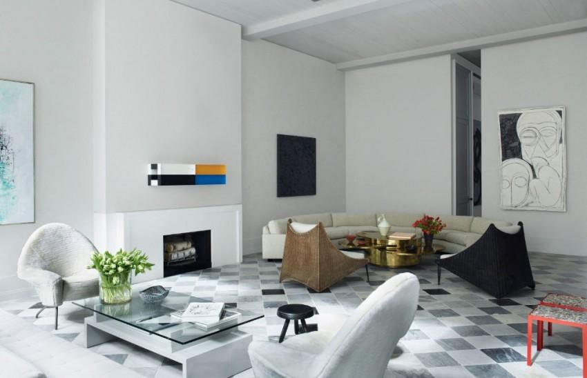 Kevin Roberts & Timothy Haynes'in Siyah Beyaz Salon Dekorasyonu
