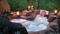 Dağ Evleri Doğa İle İç İçe Açık Hava Banyosu Fikirleri