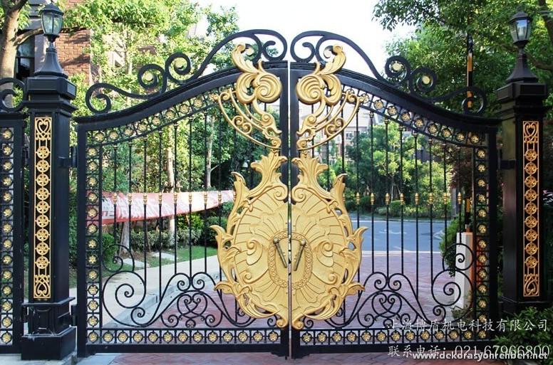 Altın Kaplama Bahçe Kapısı