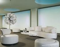 Beyaz Koltuk Takımlı Salon Dekorasyonu